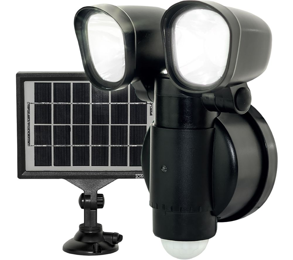 NEXUS LEXT4B50S Solar Guardian Wall Lamp - Black