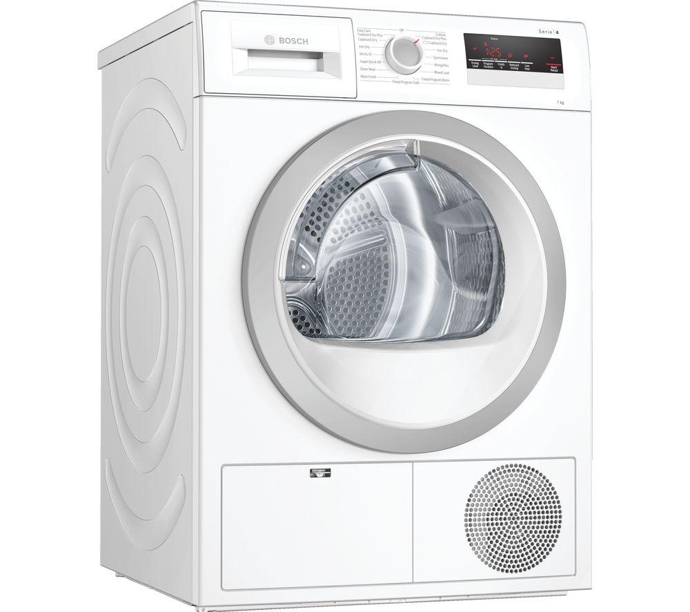 BOSCH WTN85201GB 7 kg Condenser Tumble Dryer - White, White
