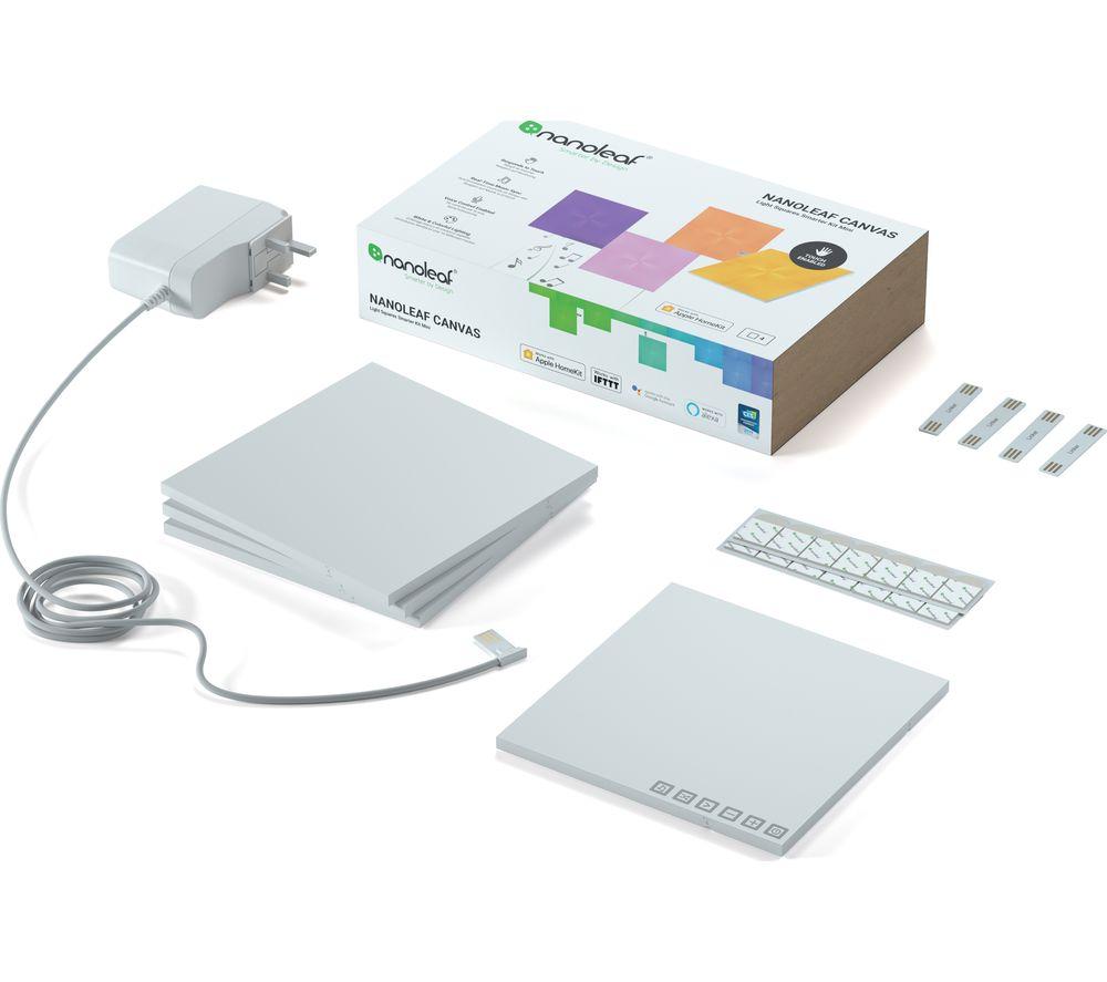 NANOLEAF Canvas Smarter Kit Smart Lights - Pack of 4