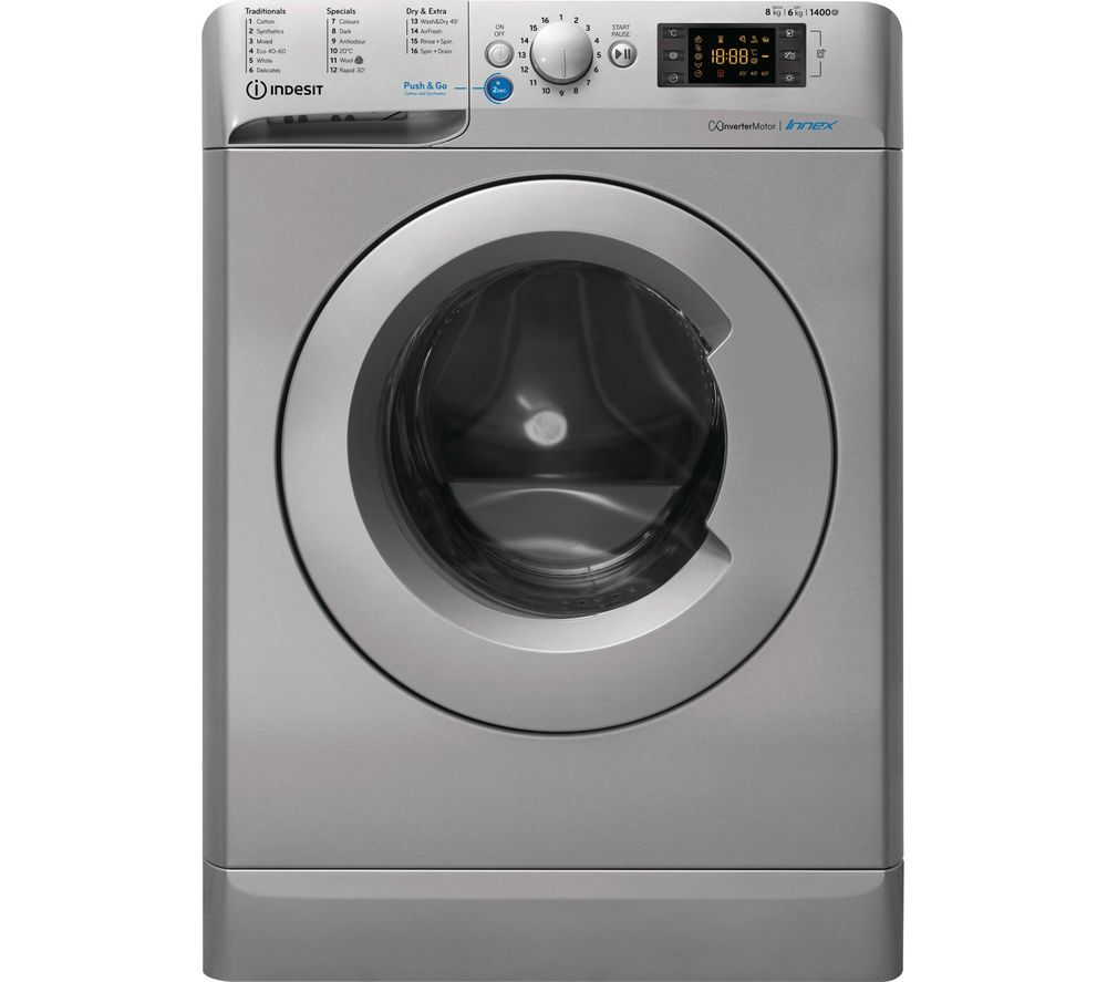 INDESIT Innex BDE 861483X S UK N 8 kg Washer Dryer - Silver