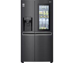 LG GSX961MCCZ American-Style Smart Fridge Freezer - Black Best Price, Cheapest Prices