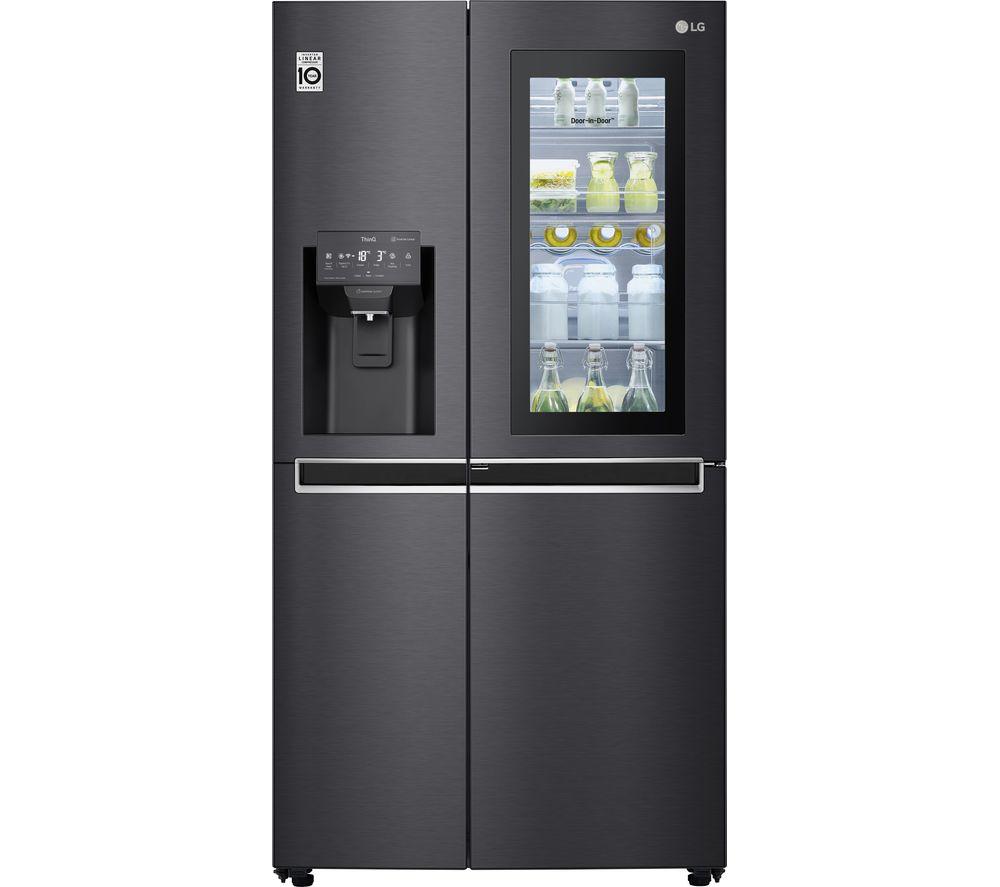 LG GSX961MCCZ American-Style Smart Fridge Freezer - Black, Black
