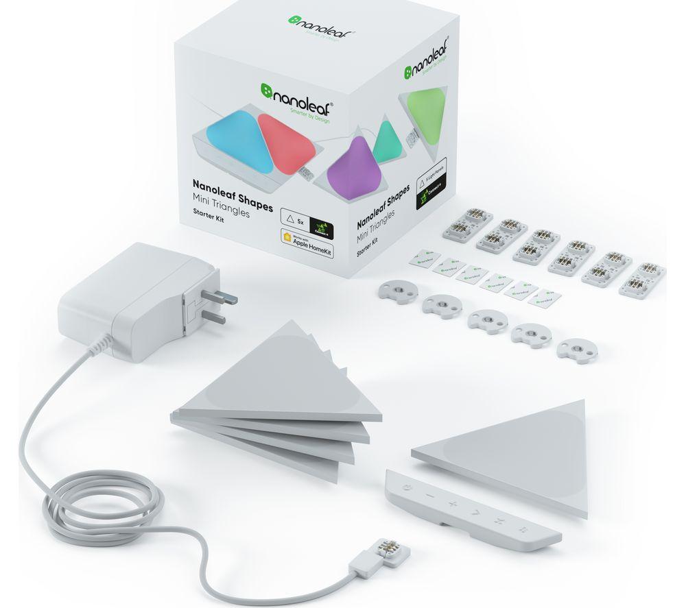 NANOLEAF Shapes Mini Triangle Smart Lights Starter Kit - Pack of 5