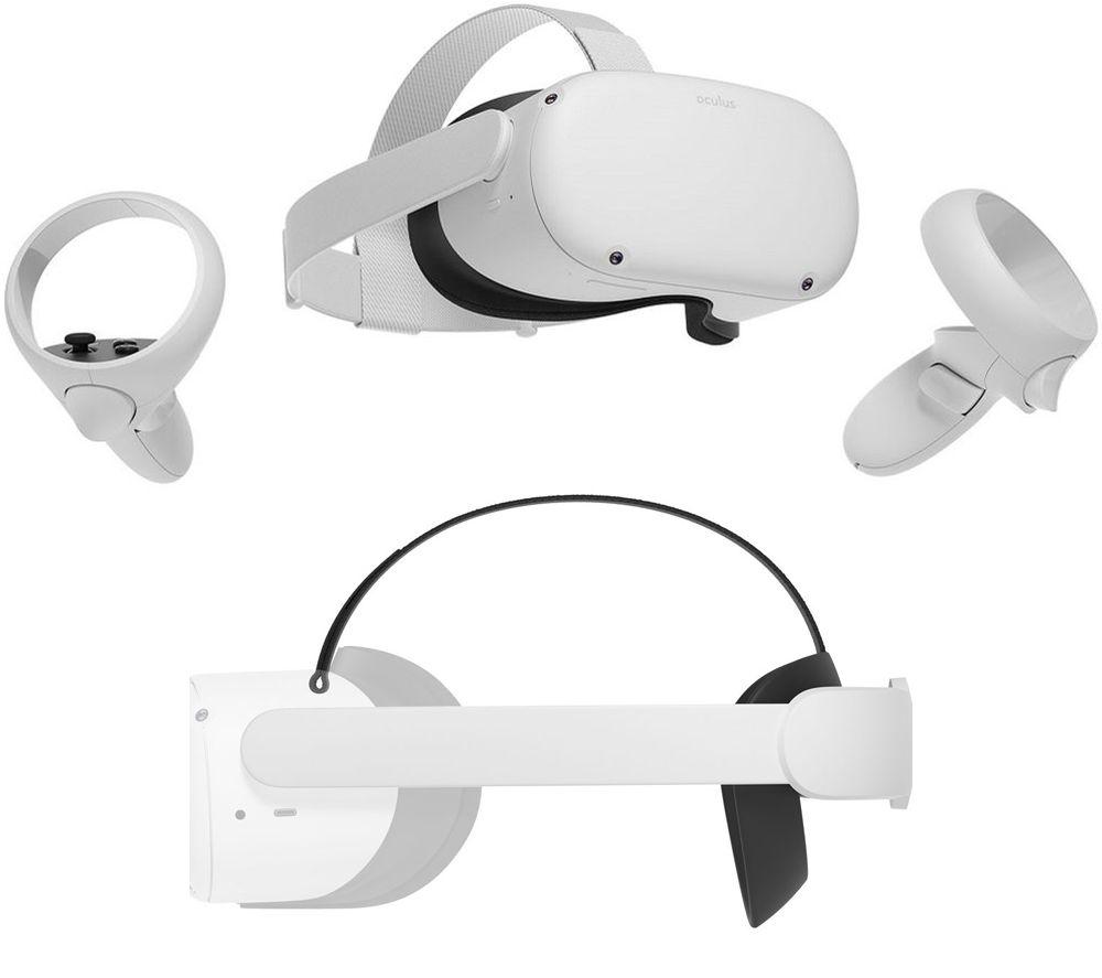 OCULUS Quest 2 VR Gaming Headset & Elite Strap Bundle - 64 GB