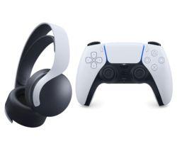 PULSE 3D Wireless PS5 Headset & DualSense Controller Bundle - Black & White