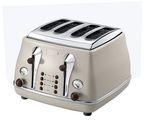 DELONGHI Icona Vintage CTO-V4003BG 4-Slice Toaster - Cream