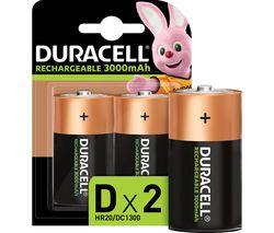 DURACELL Accu D Rechargeable NiMH Batteries - Pack of 2