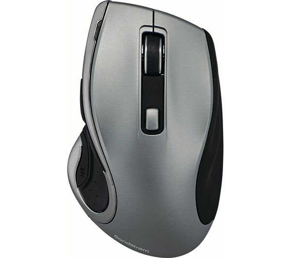 Image of SANDSTROM SMWLHYP15 Wireless Blue Trace Mouse - Gun Metal