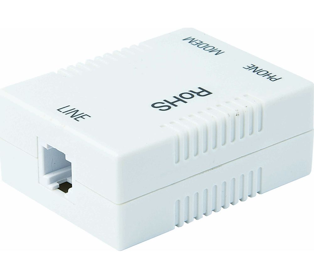 Telephone Accessories Cheap Deals Currys Bt Phone Line Extension Wiring Logik Ladslf15 Adsl Broadband Filter