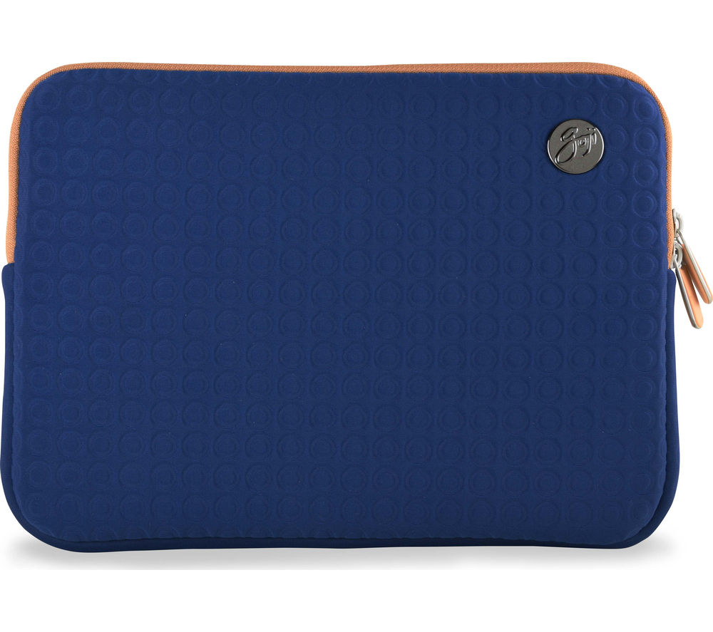 "GOJI GSMBL1216 12"" MacBook Sleeve - Navy & Brown"