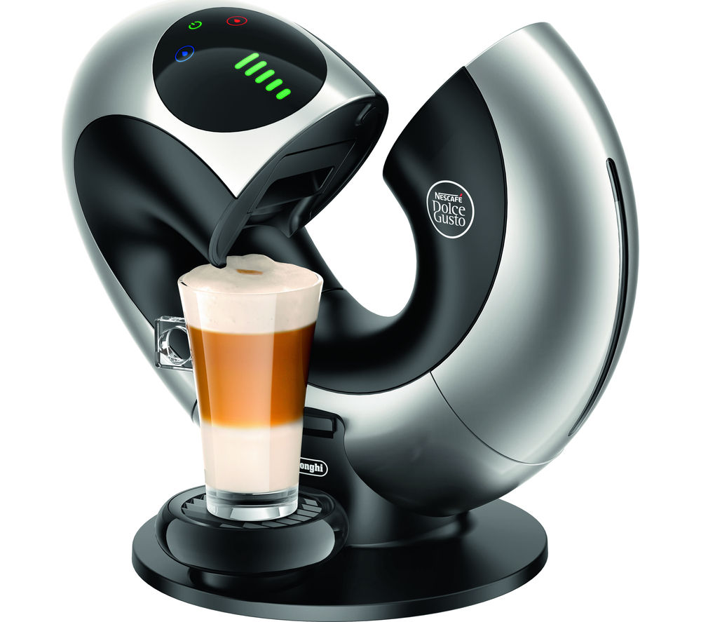 buy dolce gusto by de 39 longhi eclipse edg736s hot drinks machine black silver free delivery. Black Bedroom Furniture Sets. Home Design Ideas