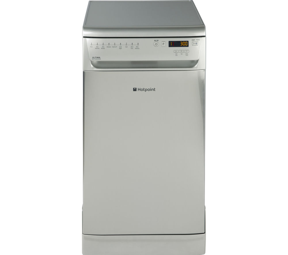 HOTPOINT Ultima SIUF32120X Slimline Dishwasher - Stainless Steel