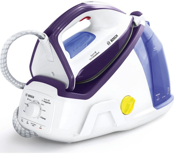 Image of BOSCH Vario Comfort TDS6080GB Steam Generator Iron - White & Violet