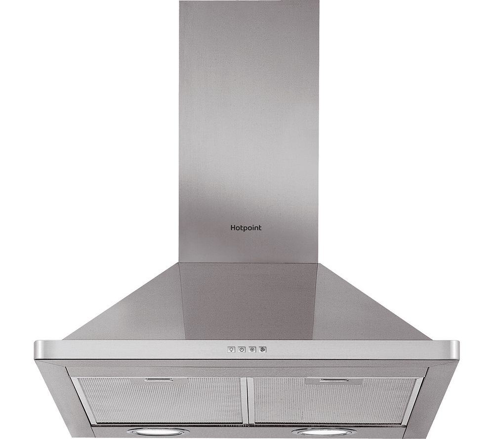 HOTPOINT PHPN7.4FAMX Chimney Cooker Hood - Stainless Steel