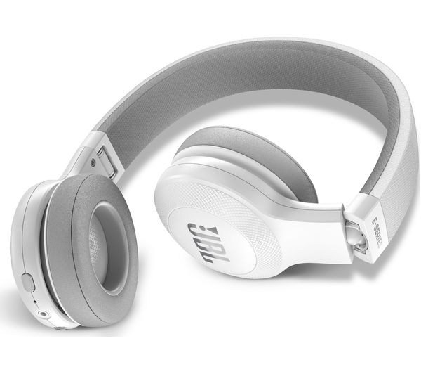 d9f594a834e JBL E45BT Wireless Bluetooth Headphones - White Fast Delivery | Currysie