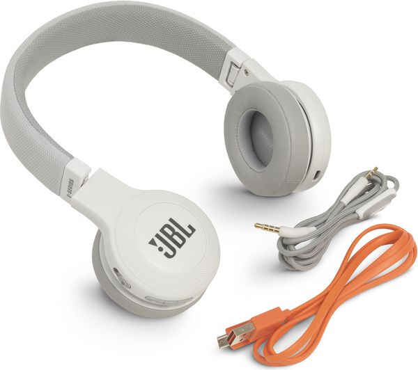 JBL E45BT Wireless Bluetooth Headphones - White