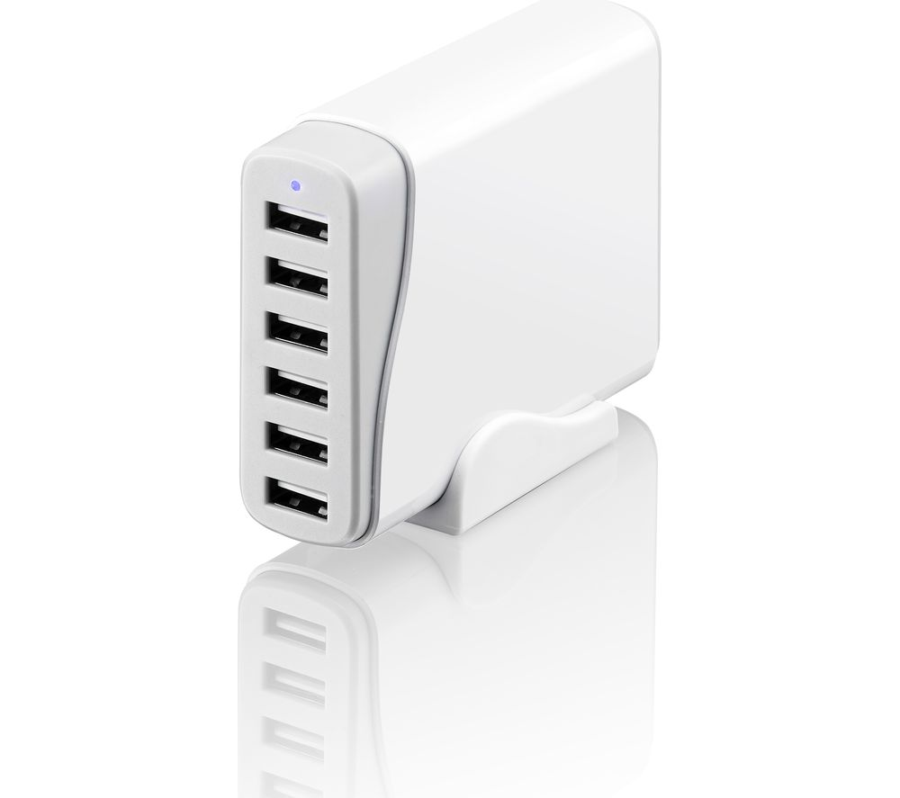 SANDSTROM SMA6WH17 8A 6-port USB Charger