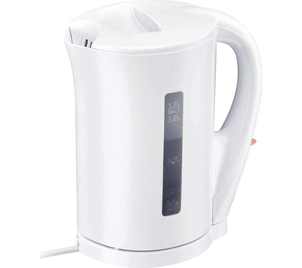 ESSENTIALS C17JKW17 Jug Kettle - White + C02TW17 2-Slice Toaster - White