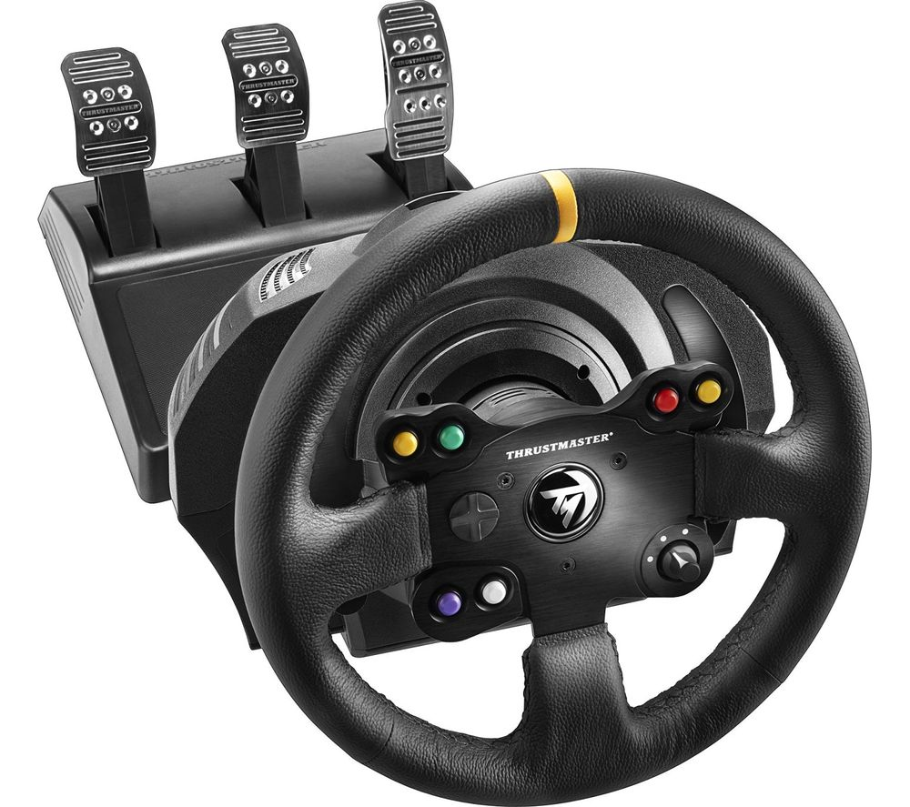 buy thrustmaster tx racing leather edition xbox one pc wheel free delivery currys. Black Bedroom Furniture Sets. Home Design Ideas