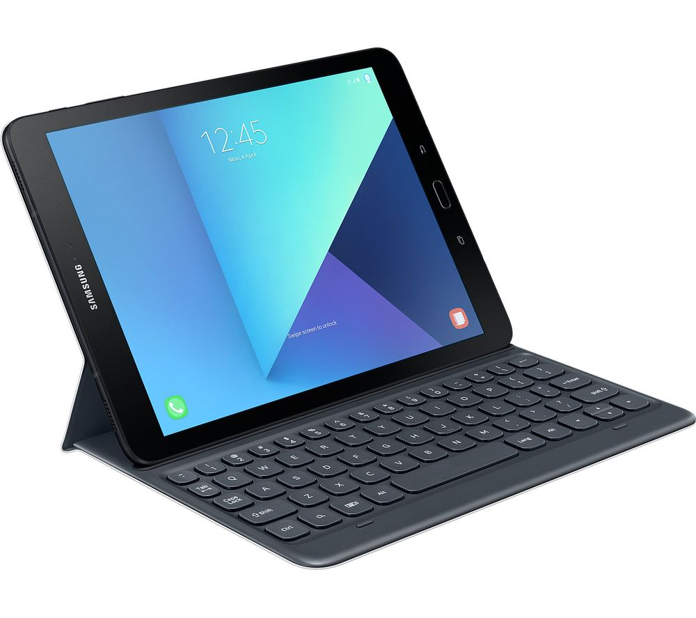 buy samsung 9 7 galaxy tab s3 keyboard folio case grey. Black Bedroom Furniture Sets. Home Design Ideas