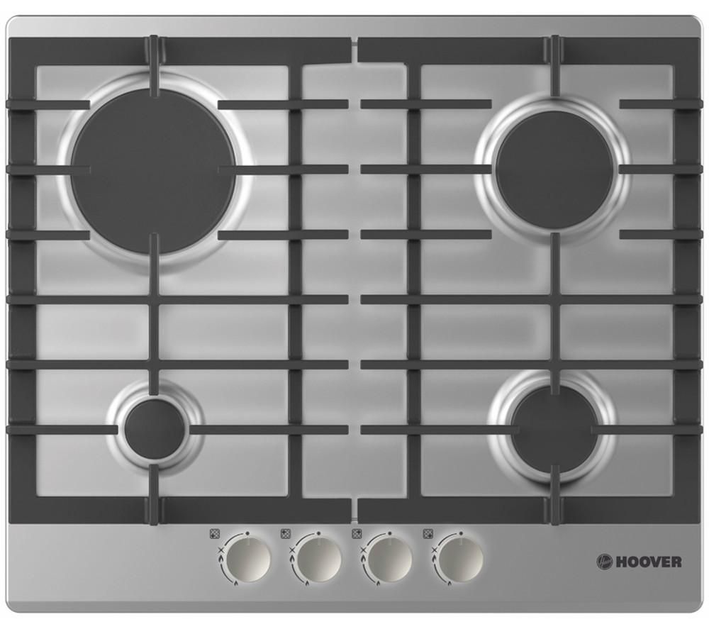 HOOVER HGH64SCE X Gas Hob - Stainless Steel, Stainless Steel