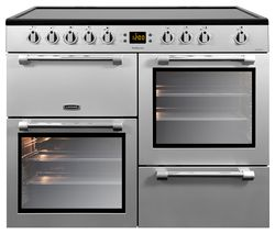 LEISURE Cookmaster CK100C210S Electric Ceramic Range Cooker - Silver & Chrome Best Price, Cheapest Prices