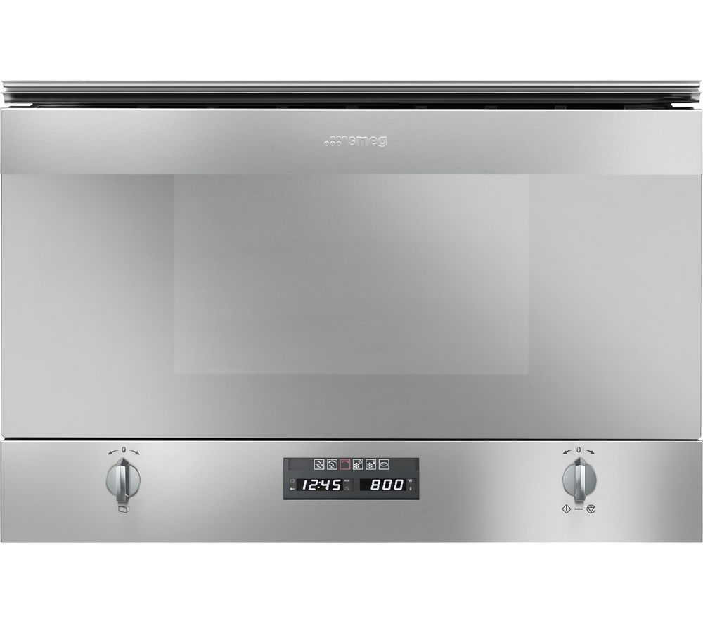 Smeg Cucina Mp422x Built In Compact Microwave With Grill Stainless Steel
