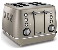 MORPHY RICHARDS Evoke Premium 4-Slice Toaster - Platinum
