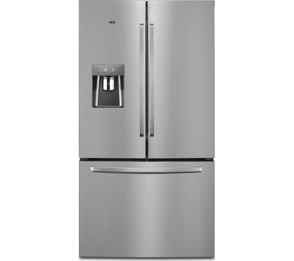 Image of AEG RMB76311NX American-Style Fridge Freezer - Silver & Stainless Steel, Stainless Steel