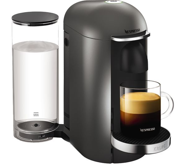 buy nespresso by krups vertuoplus xn900t40 coffee machine titanium free delivery currys. Black Bedroom Furniture Sets. Home Design Ideas