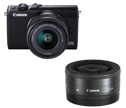 CANON EOS M100 Mirrorless Camera with EF-M 15-45 mm & 55-200 mm f/3.5-6.3 Lens
