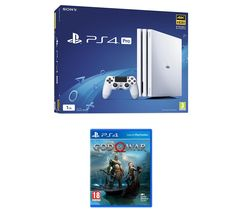 SONY PlayStation 4 Pro (White) & God Of War Bundle