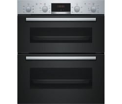 Serie 2 NBS113BR0B Electric Built-under Double Oven - Stainless Steel