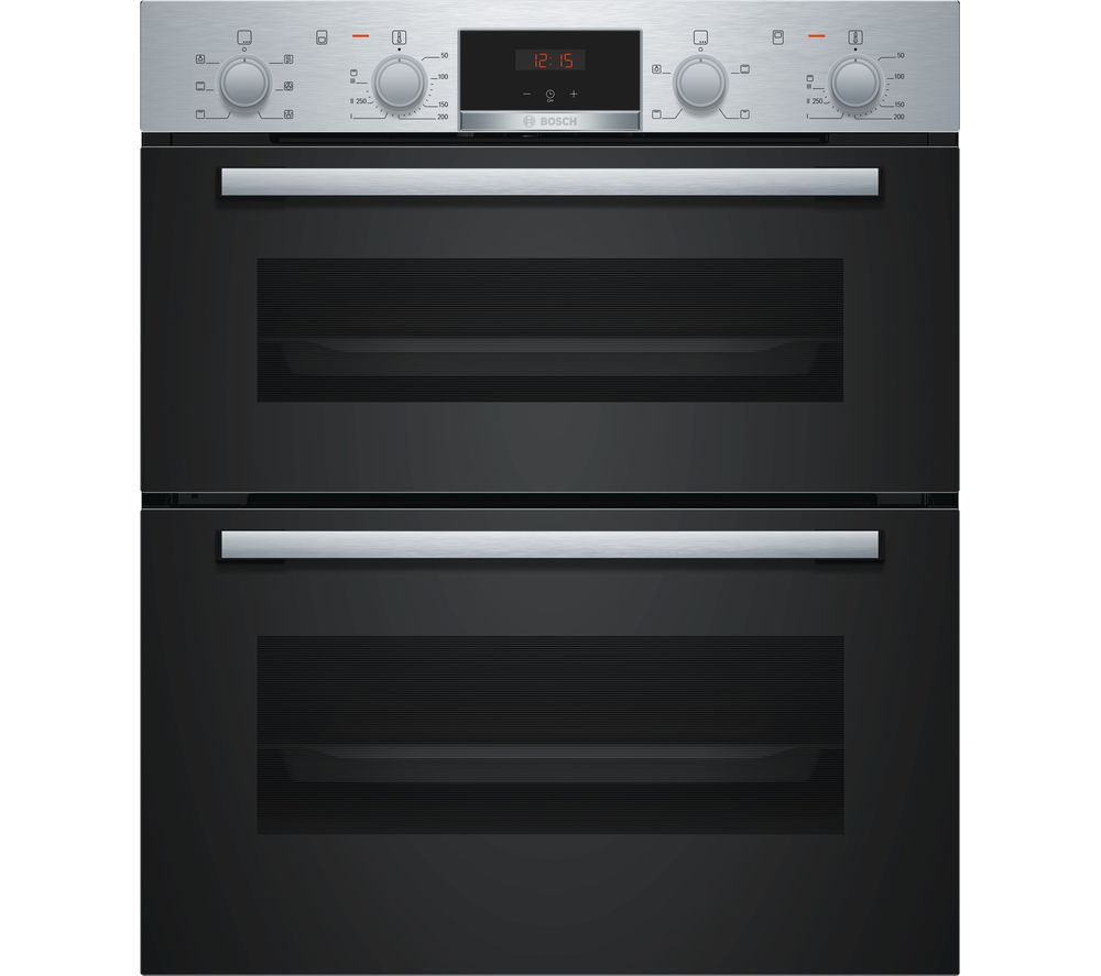BOSCH Serie 2 NBS113BR0B Electric Built-under Double Oven - Stainless Steel