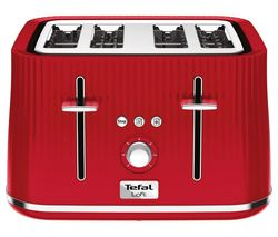 TEFAL Loft TT60540 4-Slice Toaster - Cherry Red