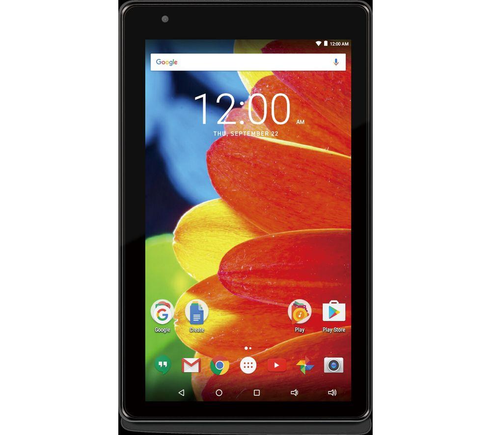 "RCA Mercury 7L 7"" Tablet - 8 GB, Black, Black"