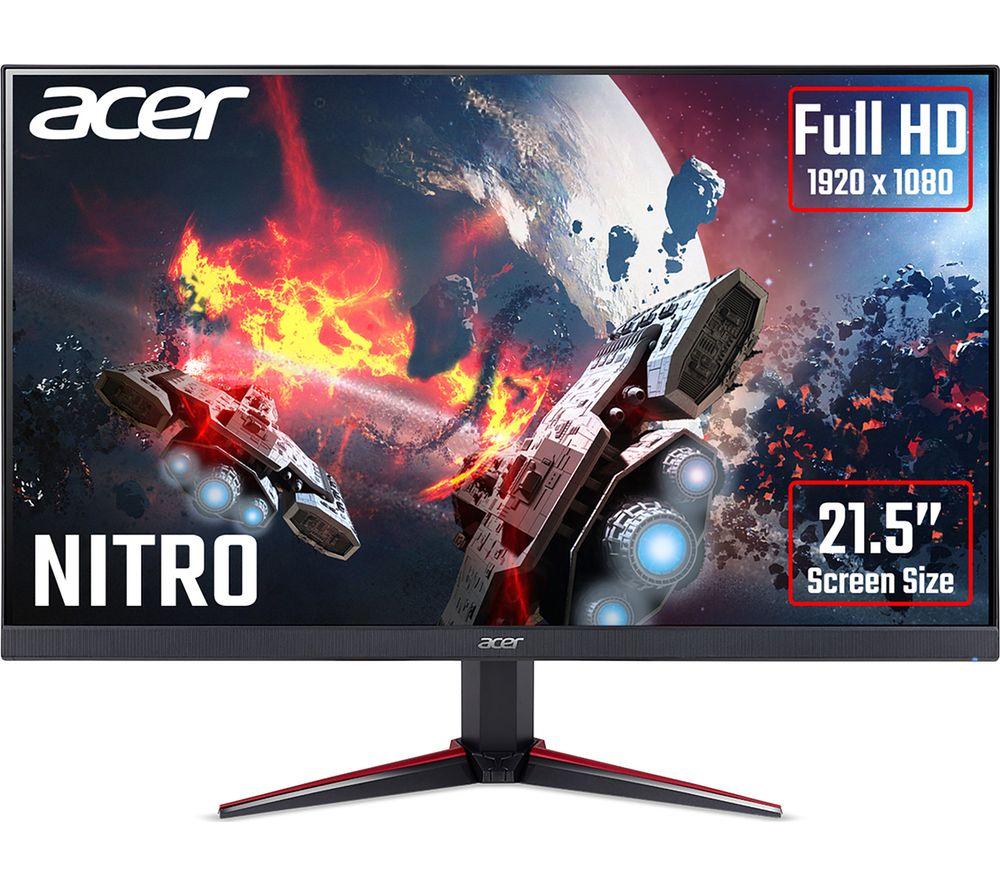 "Image of ACER Nitro VG220Qbmiix Full HD 21.5"" IPS LCD Gaming Monitor - Black, Black"