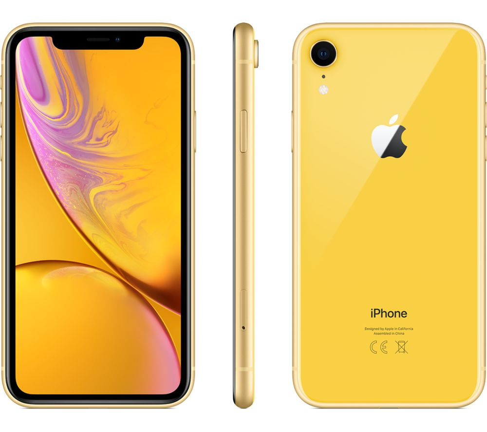 APPLE iPhone XR - 64 GB, Yellow Fast Delivery | Currysie