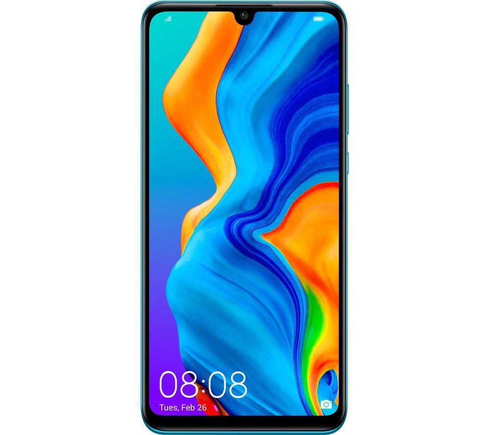 Image of Huawei P30 Lite 128GB Peacock Blue SIM Free, Blue