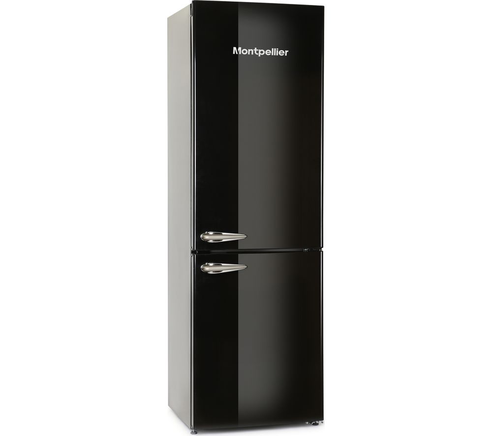 MONTPELLIER MAB365K Fridge Freezer - Black