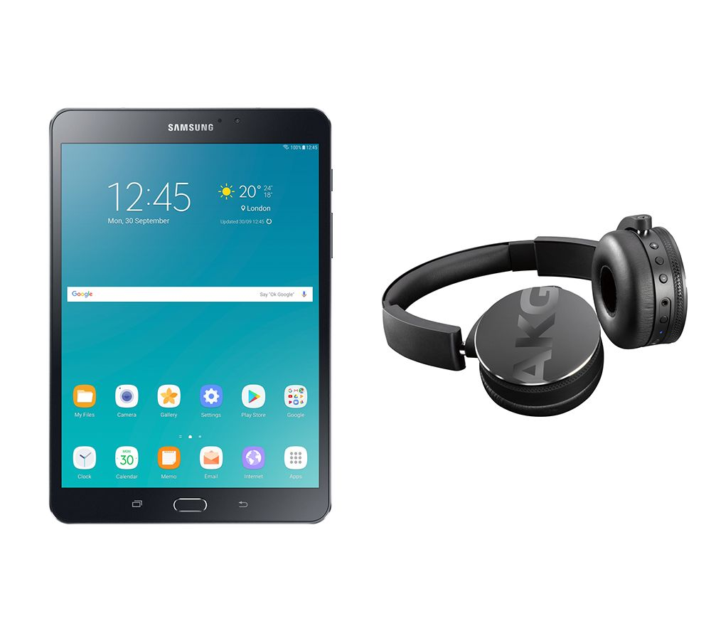 "Image of SAMSUNG Galaxy Tab S2 8"" Tablet & C50BT Wireless Bluetooth Headphones Bundle - 32 GB, Black, Black"