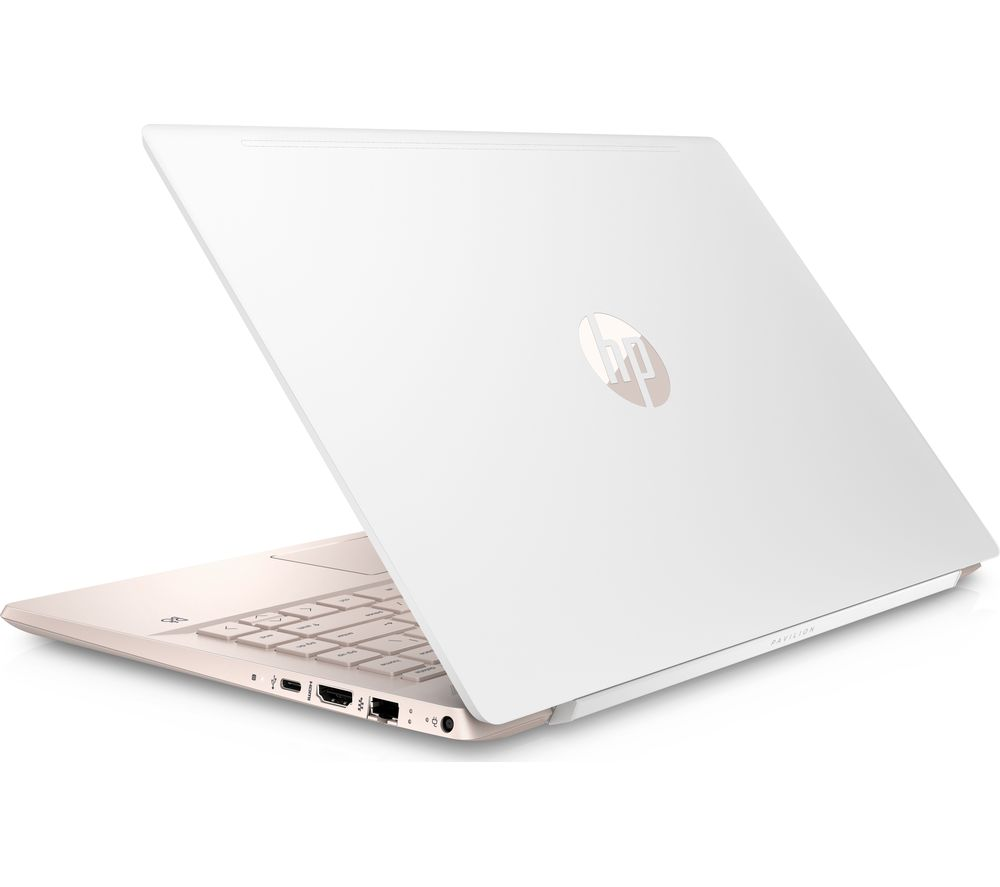 "Image of HP Pavilion 14-ce0593sa 14"" Intel® Pentium Gold Laptop - 128 GB SSD, White, Gold"