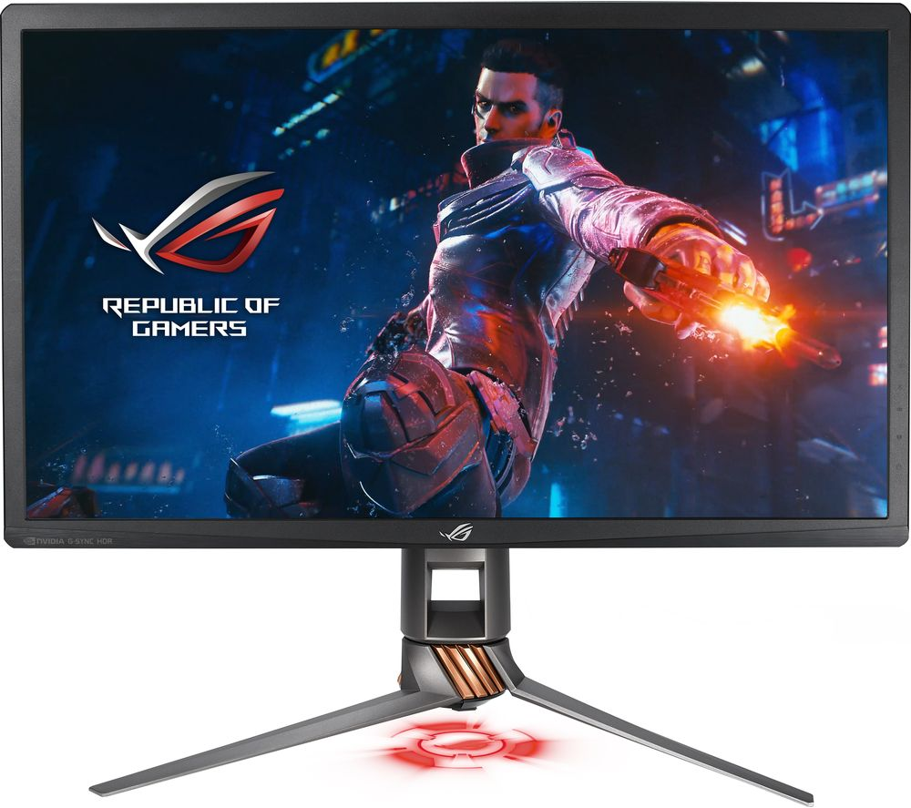 "ASUS ROG Swift PG27UQ 4K Ultra HD 27"" IPS LCD Gaming Monitor - Titanium"