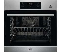 AEG SteamBake BES356010M Electric Steam Oven with SenseCook Food Probe - Stainless Steel