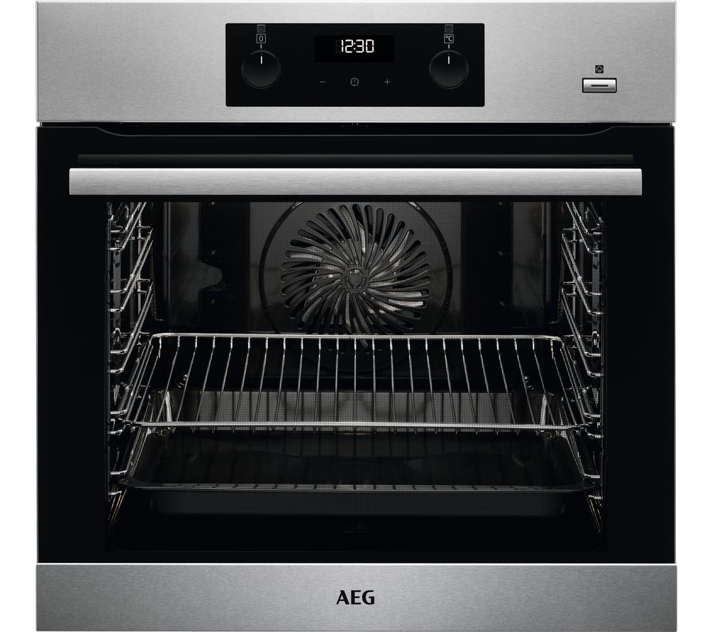 AEG SteamBake BES356010M Electric Steam Oven with SenseCook Food Probe – Stainless Steel, Stainless Steel