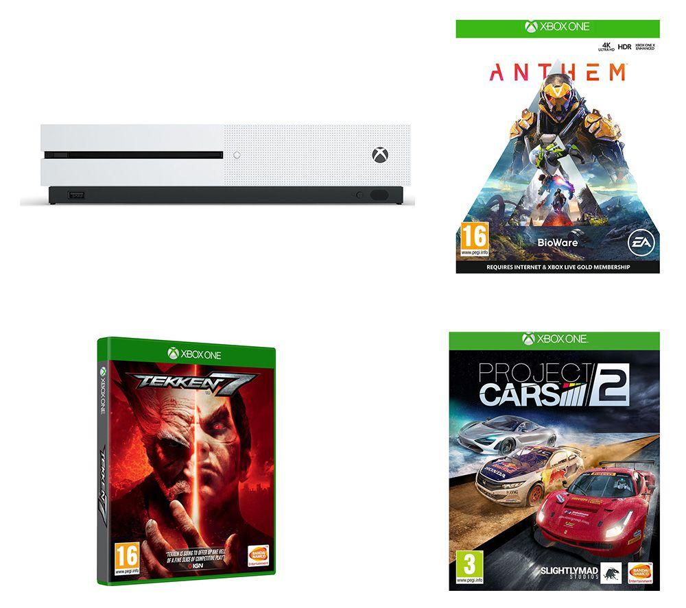 MICROSOFT Xbox One S, Anthem, Tekken 7 & Project Cars 2 Bundle - 1 TB