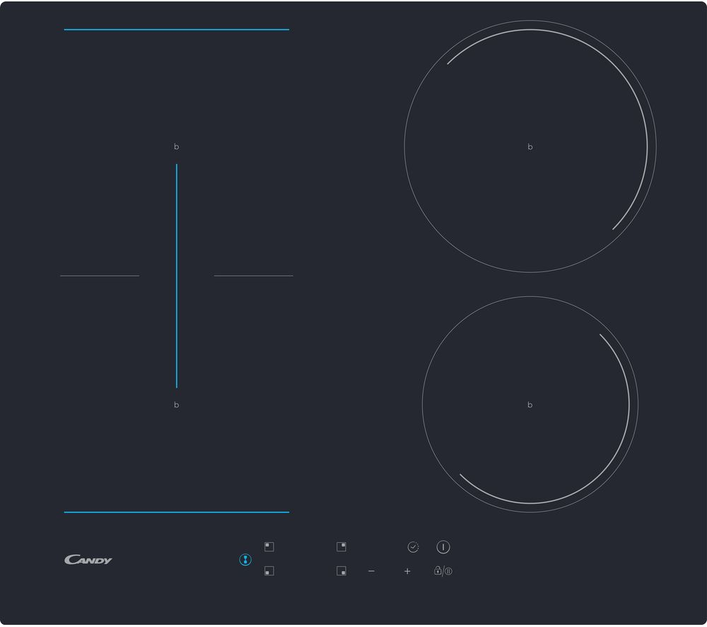 CANDY CTP643C Electric Induction Hob -  Black