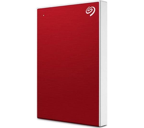 Image of SEAGATE Backup Plus Slim Portable Hard Drive - 1 TB, Red