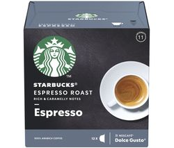 STARBUCKS Dolce Gusto Espresso Roast Coffee Pods - Pack of 12
