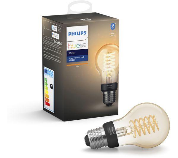 Image of PHILIPS HUE Hue Filament Bluetooth LED Bulb - A60, E27